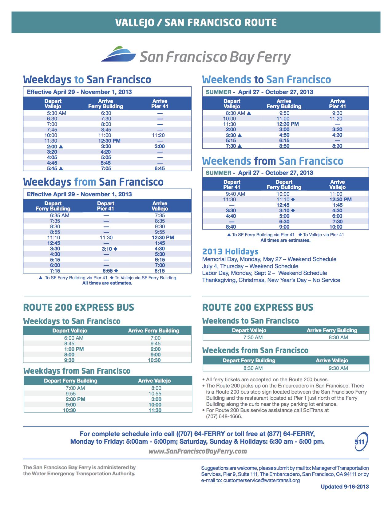 vallejo-to-san-francisco-ferry-schedule - vallejo bay ferry