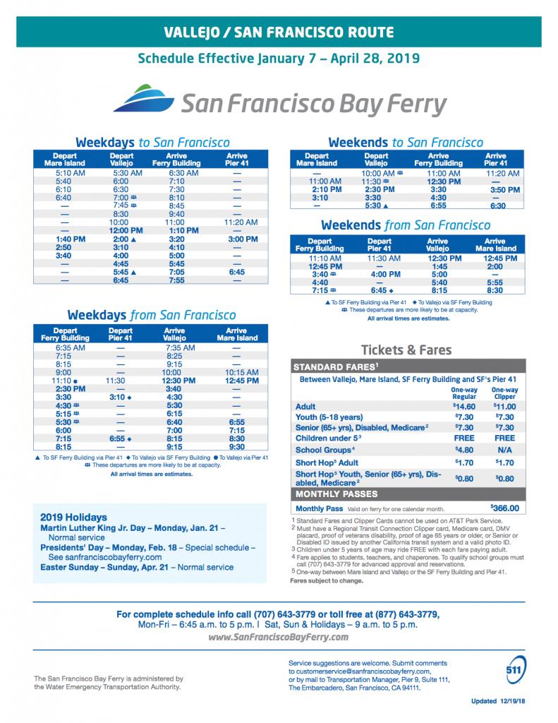 Vallejo-Ferry-Schedule-Spring-2019